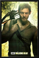 Daryl Dixon Walking Dead FRAMED Poster - 24 x 36 in