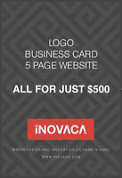 GET A 5 PG WEBSITE WITH A LOGO & BUSINESS CARD DESIGN FOR $500!