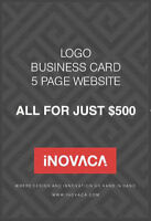 GET A 5 PAGE WEBSITE WITH A LOGO & BUSINESS CARD DESIGN FOR $500