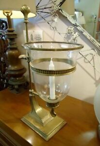 PAIR OF GRAND HURRICANE LAMPS, CANDLESTICKS West Island Greater Montréal image 3
