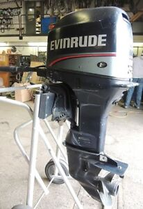 1996 USED EVINRUDE 25 HP 2 STK 3 CYC. OUTBOARD MOTOR - Sale!