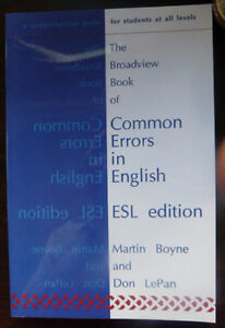 The Broadview Book of Common Errors in English – ESL Edition.