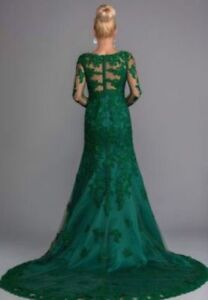 Green Swarovski wedding - Bridal dress