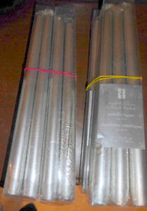 2 Large candles + one extra $5, 24 NEW metallic taper candles $5 Kitchener / Waterloo Kitchener Area image 2