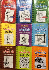 DIARY OF A WIMPY KID BOOKS 1-9-  9 for $30