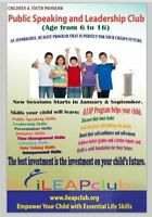 Public Speaking and Leadership Program for Children & Youth