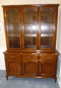 Large Gibbard China Cabinet with Light - Exceptional - Canadian