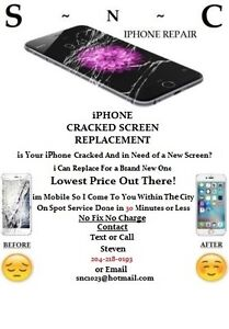 iPhone 5,5c,5s,6 and 6+ Cracked Screen Replacement LOWEST PRICE
