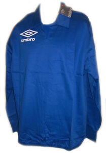 UMBRO MENS DRILL TOP EPSOM RETRO SOCCER RUGBY TRAINING TOP ROYALBLUE S M L XLNEW
