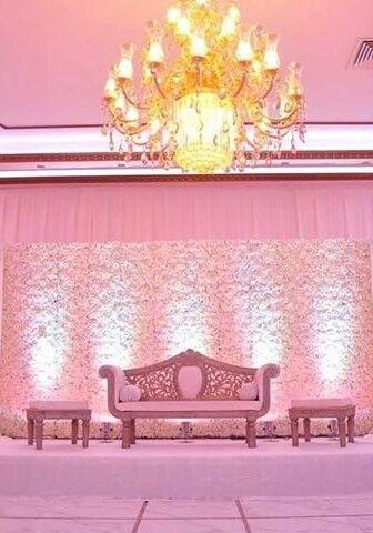 Wedding Staging £299 Wedding Backdrop£199 Flower Board Back £599 White Dancefloor Rent Charger Plate
