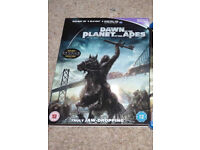 *Reduced* DAWN Of The PLANET Of The APES 3D + 2D Bluray Film, Slip Cover, blu ray/blueray/blue ray