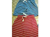 Two pairs of boys 5-6 year old jogger style shorts from George at Asda