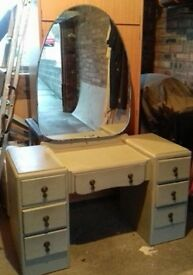 painted solid wooden dressing table