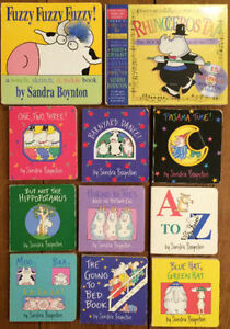 SANDRA BOYNTON Board Books $3 each or all 11 for $25