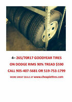 St. Catharines-265/70R17 GOODYEAR TIRES