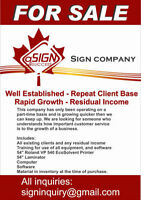 Sign Company for Sale in Essex County(Amherstburg based)