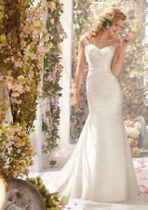 Stunning Wedding Dress Mermaid Gown - illusion lace details!