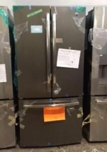 33'' Refrigerator, Slate, French doors