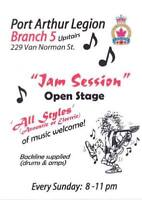 Br. 5 Legion OPEN MUSIC JAM   Every SUN. - APRIL 21