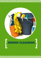 Cleaners Needed