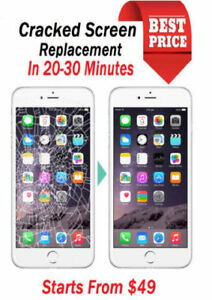 Cracked screen/iphone screen/unlocking/cell phone repair/apple