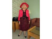 Conduci Mother of the bride outfit and hat. Size 16