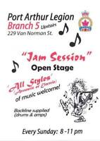 BR. 5 LEGION:  OPEN JAM  Every SUN. NIGHT