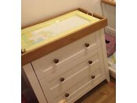 Mothercare baby changing unit with drawers