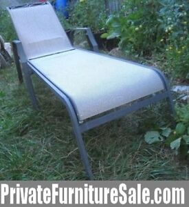 $90 Each 2 Aluminum frame Lounge with 6 reclining positions