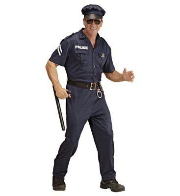 Polizist Streifenpolizist Polizeikostüm Kostüm Polizei Männerkostüm Gr. XL - Polizisten Kostüm Männer