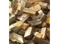 SEASONED HARDWOOD LOGS AND KINDLING (UNDER 20% MOISTURE GARANTUEE)