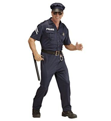 Polizist Streifenpolizist Polizeikostüm Kostüm Polizei Männerkostüm Gr. L - Polizei Kostüm Männlich