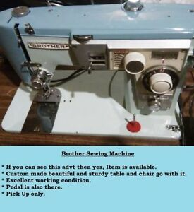 Discounted BROTHER SEWING MACHINE WITH CHAIR