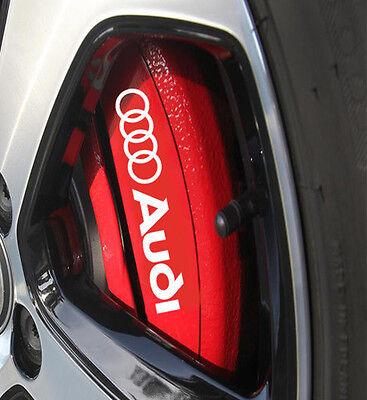 Audi A3 A4 A5 A6 S3 S4 S5 Brake Caliper HIGH TEMP. Vinyl Decal Sticker 4X