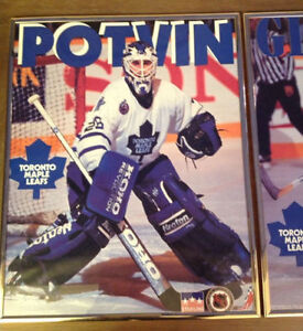 Starline 1993 framed Doug Gilmour and Potvin posters