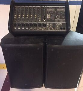 Yorkville M810 mixer and Yorkville 350W Speakers