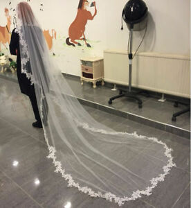 Wedding Veils With Comb / Voile de mariee ** CATHEDRALE LENGTH
