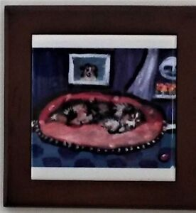 Framed Australian Shepherd Ceramic Tiles