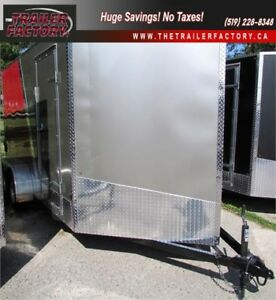 "New Cargo Trailer 7'x14"" V-Nose Pewter/Red, Finacing Available"