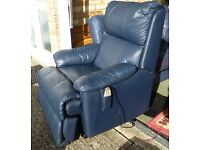 Recliner armchair with heat and massage features
