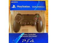PS4 Dual Shock 4 Controller, Black - Brand New