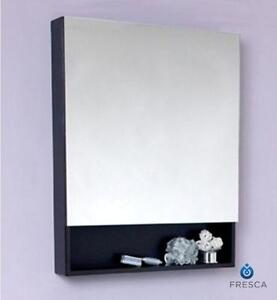 "24"" Espresso Bathroom Medicine Cabinet w/ Small Bottom Shelf"
