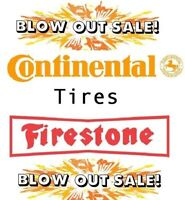 195 65 R15 Continental & Firestone Brand New Tires BLOW-OUT SALE