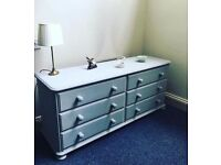 Double chest of drawers painted in Paris Grey FREE DEL TO LOCAL AREAS