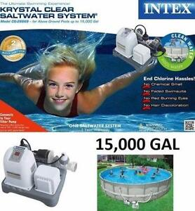 NEW INTEX KRYSTAL CLEAR SALTWATER SYSTEM 15,000 GAL