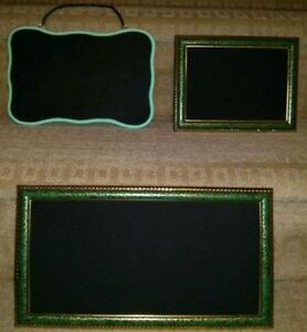Green & Gold and Mint Green Chalkboards