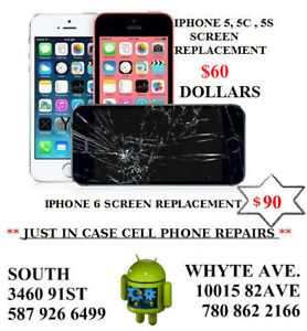 IPHONE 5/5C/5S 60 DOLLARS IPAD IPHONE 6 90 DOLLARS SCREEN REPAIR