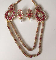 INDIAN COSTUME JEWELRY NECKLACE SET $15