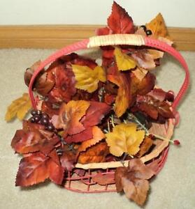 Wicker and Metal Autumn/ Thanksgiving Basket