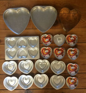 VALENTINES Heart Cake Pans 20 pans for $10